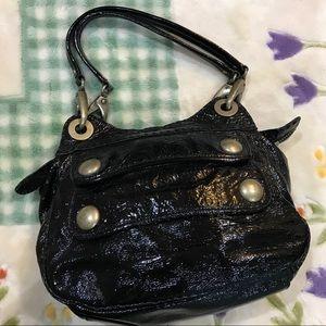 Cynthia rowley patent leather black purse EUC